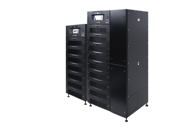 1100 Series compact, 10-80 kVA UPS from Mitsubishi Electric.